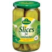 Kuhne Sliced Gherkins (German)